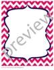 Teacher Chic Frames: Navy & Hot Pink