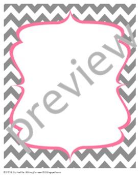 Teacher Chic Frames: Pink & Grey
