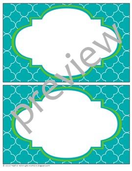 Teacher Chic Labels Bundle: Apple & Turquoise