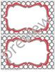 Teacher Chic Labels Bundle: Coral & Grey