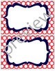 Teacher Chic Labels Bundle: Coral & Navy