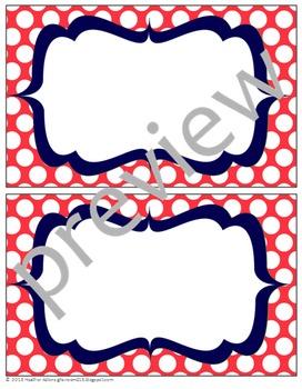 Teacher Chic Labels Bundle: Coral & Navy