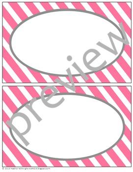 Teacher Chic Labels Bundle: Pink & Grey
