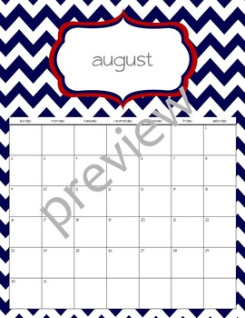 Teacher Chic Labels Bundle: Red & Navy