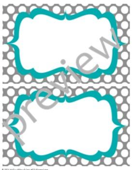 Teacher Chic Labels Bundle: Turquoise & Grey