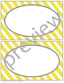 Teacher Chic Labels Bundle: Yellow & Grey