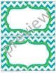 Teacher Chic Large Labels: Apple Green & Turquoise