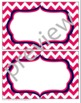 Teacher Chic Large Labels: Hot Pink & Navy