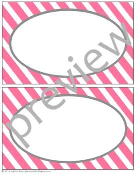 Teacher Chic Large Labels: Pink & Grey