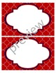 Teacher Chic Large Labels: Red & Navy
