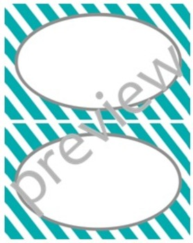 Teacher Chic Large Labels: Turquoise & Grey
