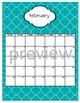 Teacher Chic SY 2015-2016 Calendar: Turquoise & Black