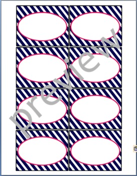 Teacher Chic Small Labels: Hot Pink & Navy