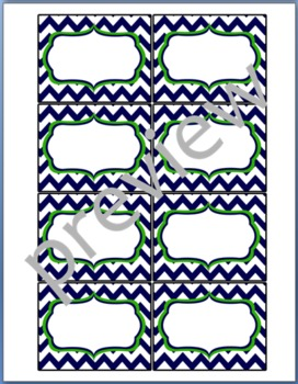 Teacher Chic Small Labels: Navy & Lime
