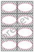 Teacher Chic Small Labels: Pink & Grey