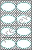 Teacher Chic Small Labels: Turquoise & Grey