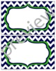 Teacher Chic Large Labels: Navy & Lime