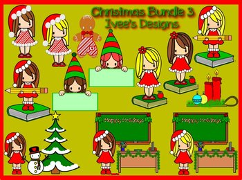 Teacher Christmas Clipart