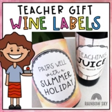 Teacher Christmas Gift - Wine Labels