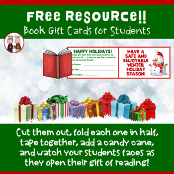 free teacher christmas present gift idea for students