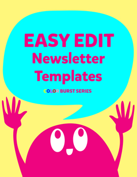 EASY EDIT Newsletter Templates:  Color Burst Series