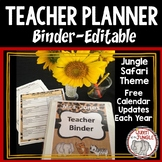 Teacher Binder Planner Calendar Editable
