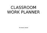 Teacher Classroom Planner