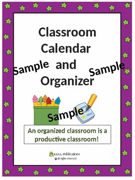 Teacher Classroom Planner and Organizer Sampler
