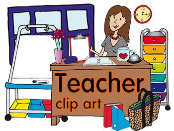 Teacher Clip Art by Lita Lita | Teachers Pay Teachers