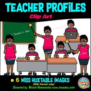 Teacher Clip Art - Meet Miss Huxtable