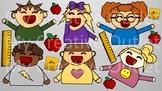 Teacher Clip Art // Student Clip Art, Students, Classroom,