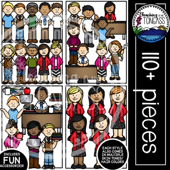 Teacher Clipart MEGA Set (School Clipart)