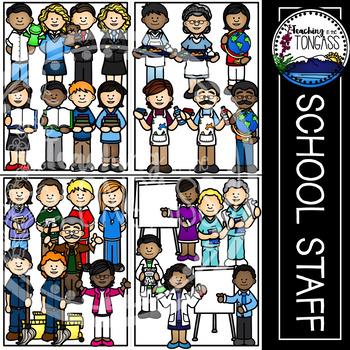 Teacher Clipart and Staff Clipart MEGA Bundle (School Clipart)