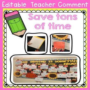 Teacher Comments for bulletin board