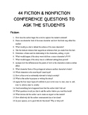 Teacher Conference Questions