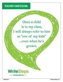Teacher Confession Classroom Poster