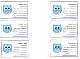 Teacher Contact Business Cards