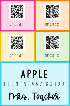 Teacher Contact Card | Editable