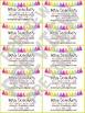 Neon Tassel Teacher Contact Business Cards - EDITABLE!