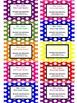Teacher Contact Cards or Business Cards For Parents- Polka Dot Design (Editable)