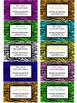 Teacher Contact Cards or Business Cards For Parents- Zebra Design (Editable)