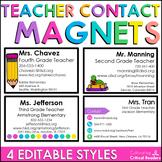 Teacher Contact Magnets (Editable)
