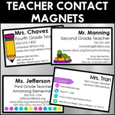 Teacher Contact Magnets (Editable)