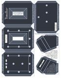 Teacher Convertible Frame Badge Ornament Pattern Printable