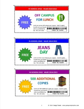 Teacher Coupon Booklet 2017-2018 by Simply Thanks | TpT