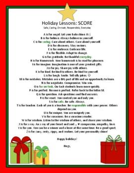 Christmas Card: Teacher Created For Students Editable