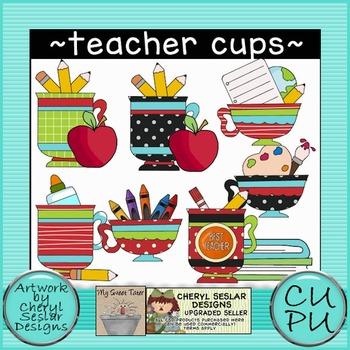 Teacher Cups Clipart