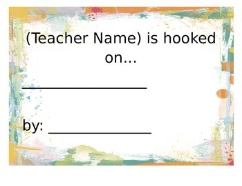Teacher Reading Card: I'm Hooked On... Editable Document!