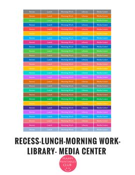 Teacher Daily Activities Planner Stickers
