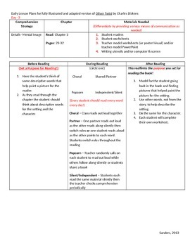 Oliver Twist (Adapted Version) Daily Lesson Plans